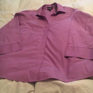 Foxcroft lavender shirt sz 14W